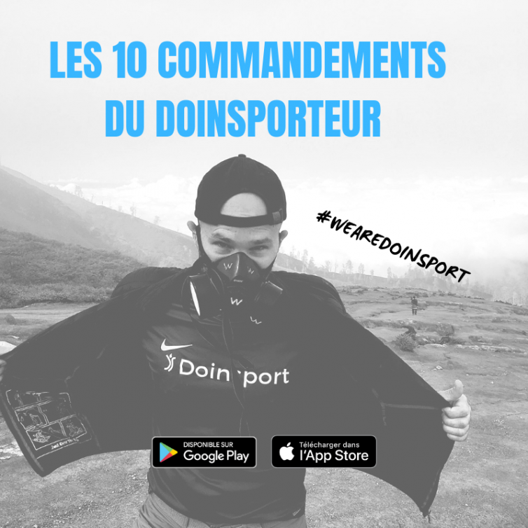 les 10 commandements du doinsporteur