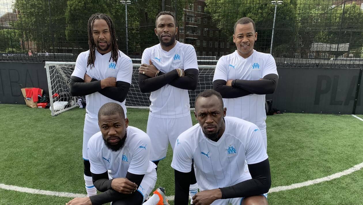 Usain Bolt à Marseille pour le nouveau maillot de l'OM