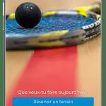 Homepage application M Squash