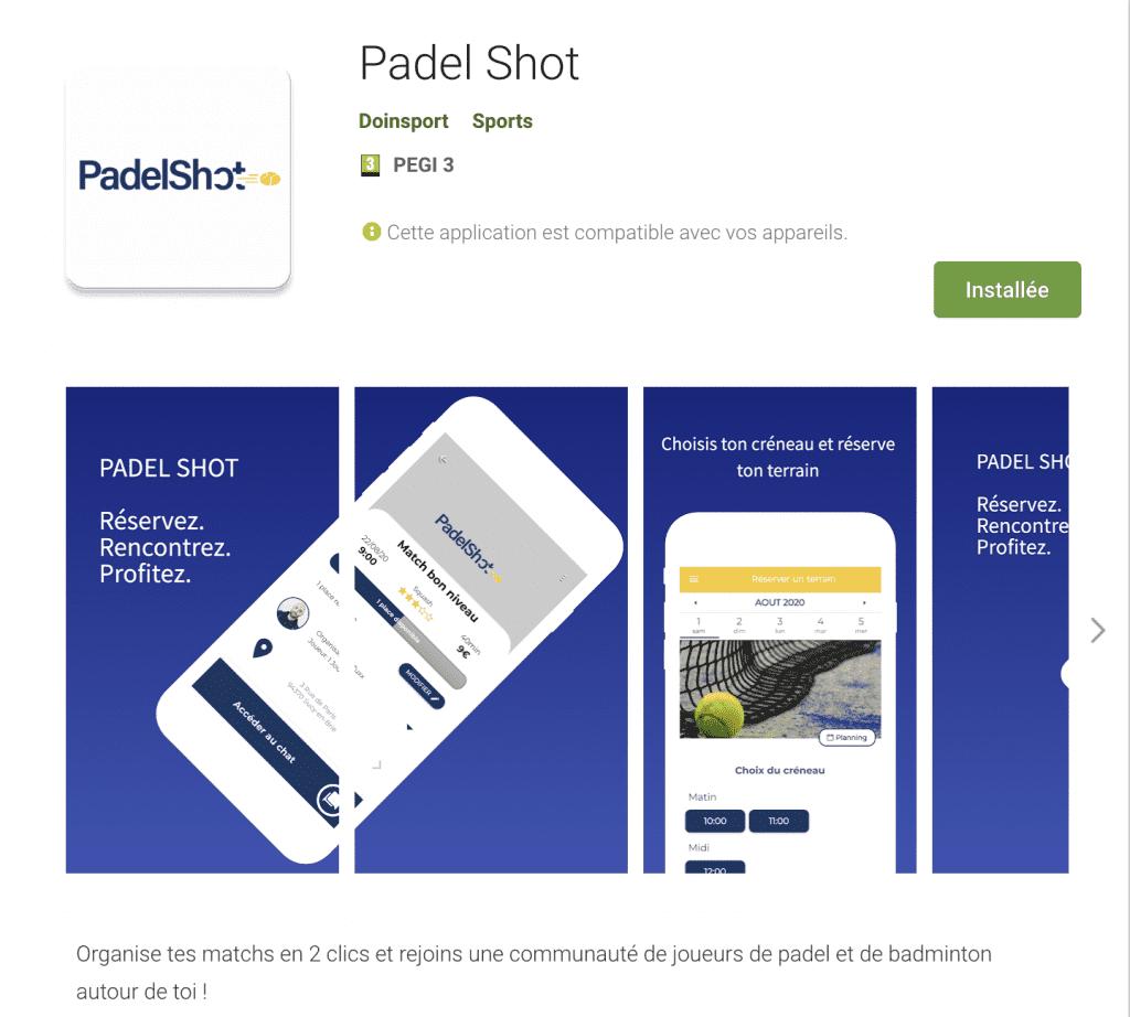 Padel shot application