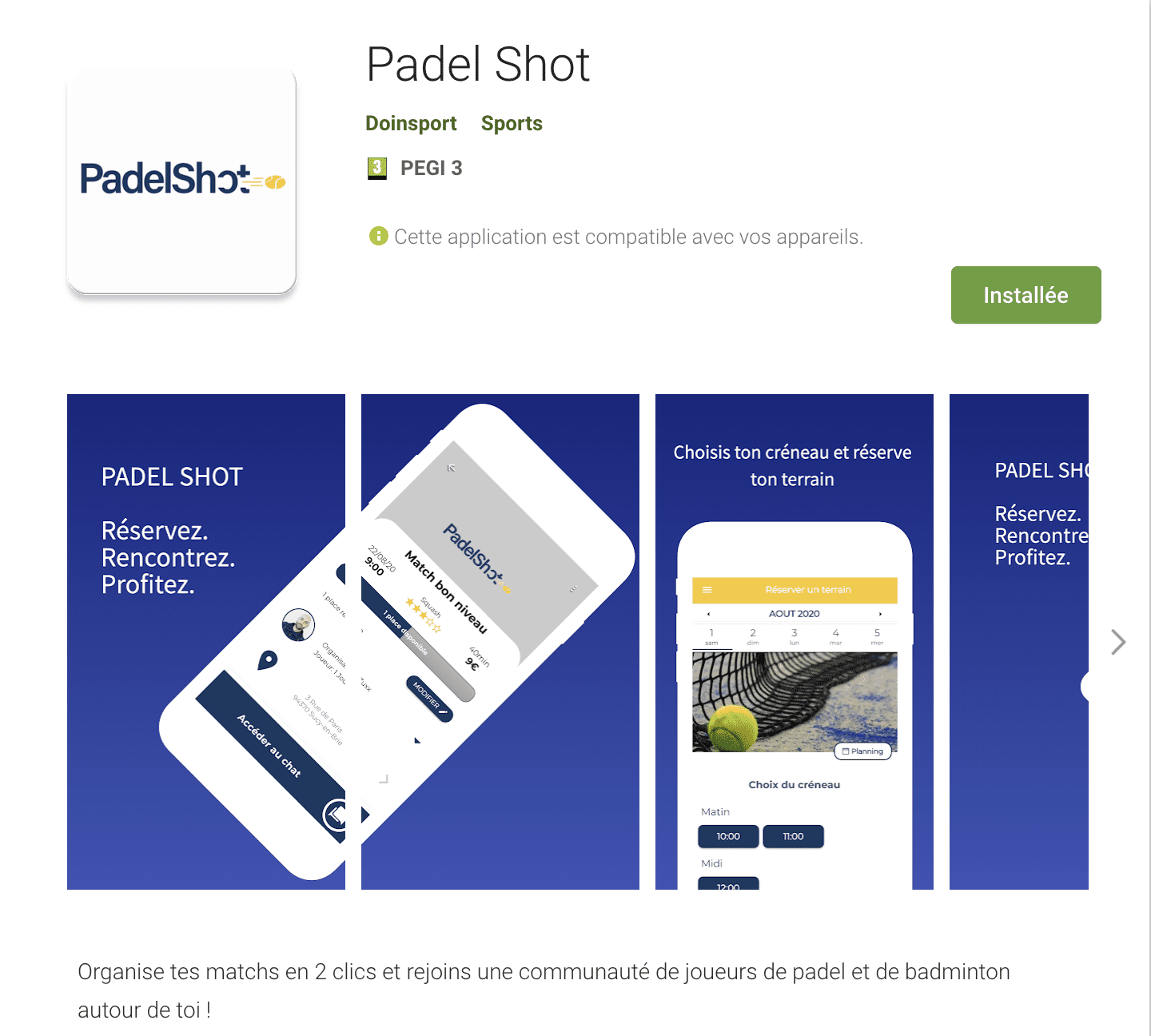 Padel shot application