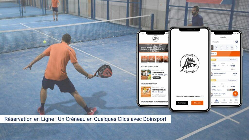 Réservation en Ligne Un créneau en quelques clics avec Doinsport